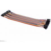 Jumper Femea X Femea com 20cm para Protoboar (Kit com 20 unidades)