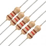 Resistor 120 Ohm 120r 5% 1/4w 0,25w  (Kit com 10 unidades)