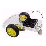 Kit Chassi 2wd com Rodas para Smart Car Carro Robô