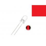 LED Alto Brilho Vermelho de 5MM (Kit com 5 unidades)