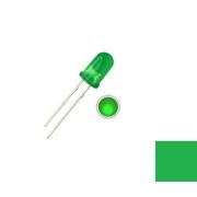 LED Difuso Verdede 5mm (kit com 5 unidades)