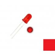 LED Difuso Vermelho de 5mm (kit com 5 unidades)