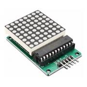 Matriz Led Vermelho Dot 8x8 Com Chip Max7219