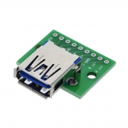 Modulo Adaptador Conector Usb 3.0 Fêmea Dip 2.54mm Arduino