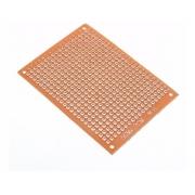 Placa Fenolite Pcb Ilhada 5x7 Perfurada para Circuito