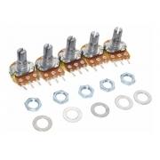 Potenciometro Linear de 10k Mini B10k Wh148-1 16mm (Kit com 5 unidades)