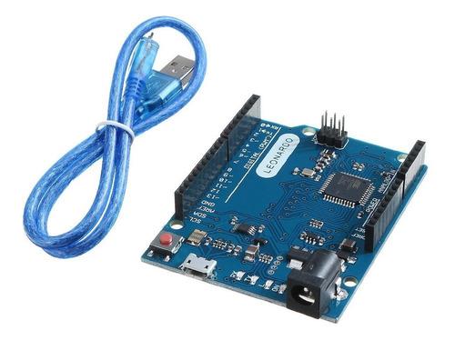 Arduino Leonardo R3 Rev3 Atmega32u4 Com Cabo Usb