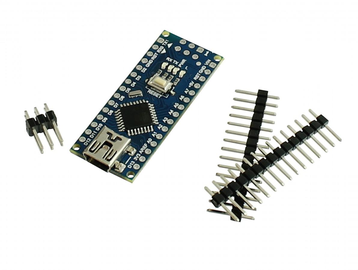 Arduino Nano V3 sem Pinos Solados Atmega328 + Cabo USB