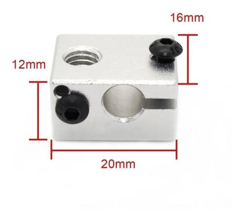 Bloco Aquecedor De Alumínio para Hotend V6 Impressora 3d Reprap