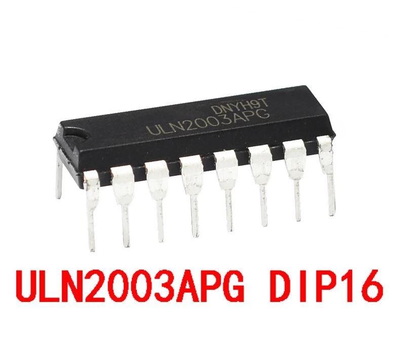 Circuito integrado CI Uln2003 Controlador Motor de Passo DIP (1 Peça)