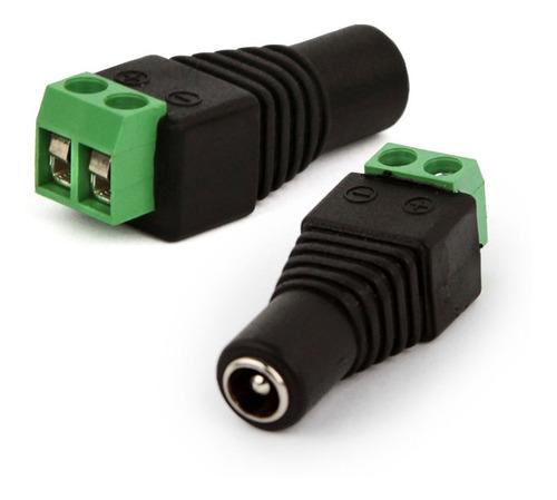 Conector Plug Jack P4 Femea com Borne de 2 Vias