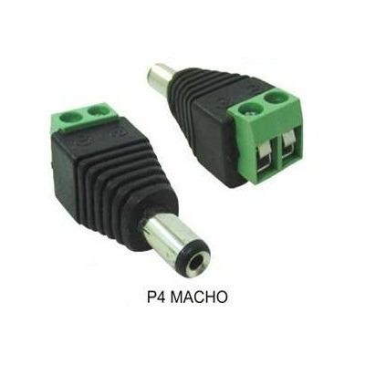Conector Plug Jack P4 Macho com Borne de 2 Vias