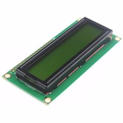 DISPLAY LCD 16X2 1602 16X02 BACKLIGHT VERDE LETRA PRETA