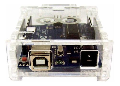 Gabinete Caixa Case Box De Acrílico para Arduino Uno