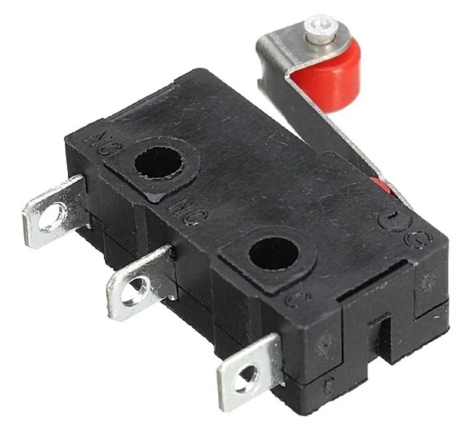 Interruptor Micro Switch Chave de Fim de Curso Alavanca  Endsotp KW12-3