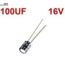 Capacitor Eletrolítico de 100uf 16v Mini 5x11mm (Kit com 10 unidades)