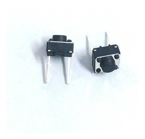 Botão Chave Microswitch Push Button com 2 Pinos (Kit com 10 unidades)
