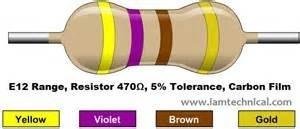 Resistor 470 Ohm 5% 1/4w 0,25w (Kit com 10 unidade)