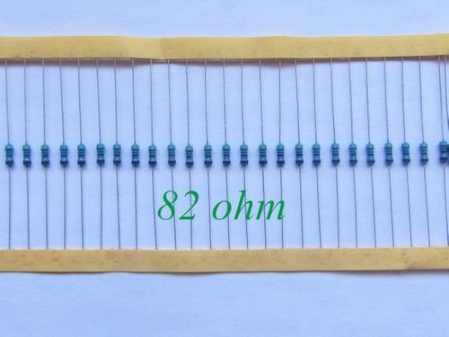 Resistor 82 Ohm 1/4w 1% (Kit com 10 unidades)