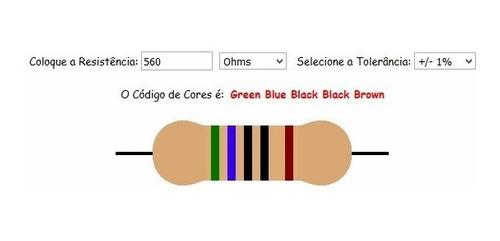Resistor De 560 Ohm 1/6w 1% (Kit com 10 unidades)