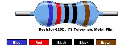 Resistor De 620 Ohm 1/4w 1% (Kit com 10 unidades)