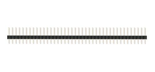 Barra De Pinos Reta Header Macho 1x40 2,54mm 180° (Kit com 5 unidades)