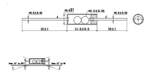 Sensor Inclinação ou Vibração SW-200D (Kit com 5 unidades)
