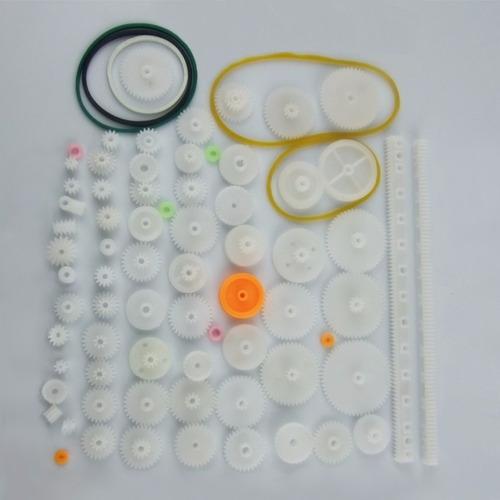 Kit com 75 Engrenagens de plástico Polia Correia
