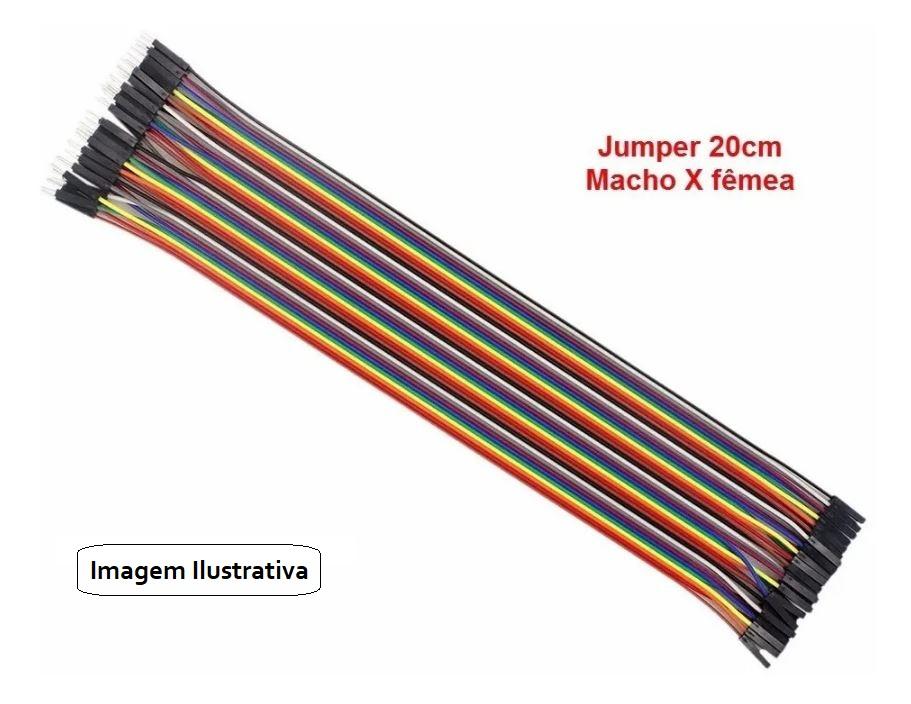 Kit com Jumpers de 20cm para Protoboard (Kit com 60 unidades)