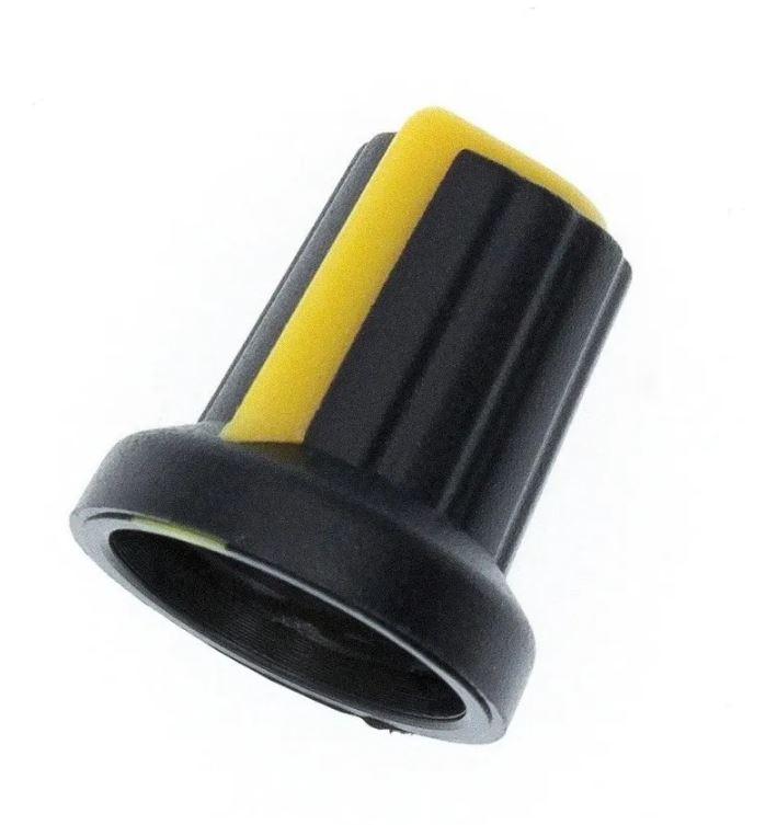 Knob para Potenciômetro de Eixo Estriado Botão Liga Volume Ton (Kit com 5 unidades)