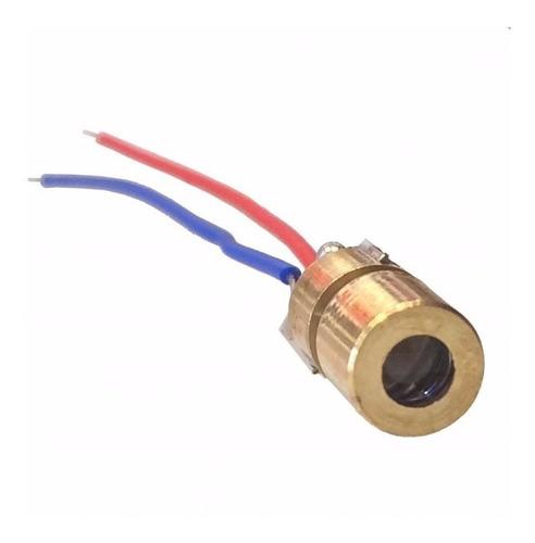 Laser 5v 5mw 650nm 6mm (Kit com 10 unidades)