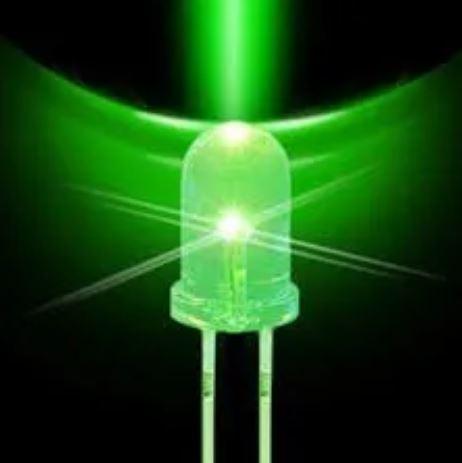 LED Alto Brilho Verde de 5MM (Kit com 5 unidades)