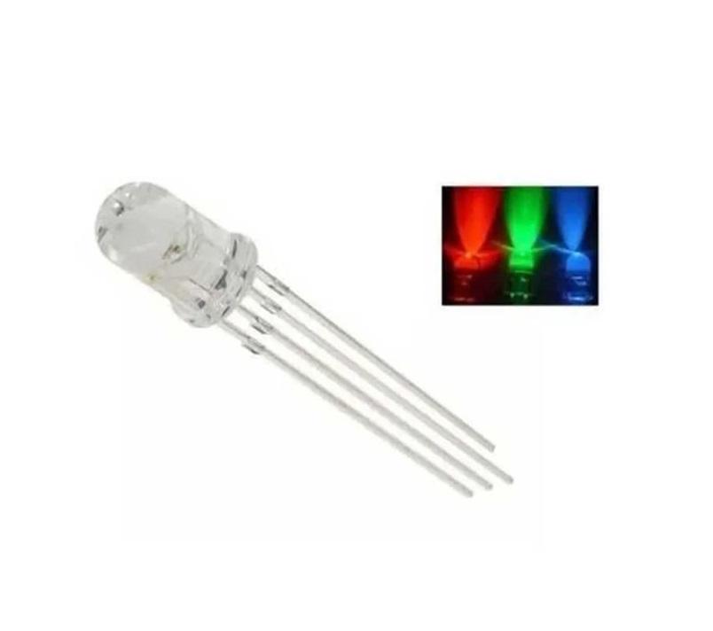 Led Rgb de Alto Brilho de 5mm Anodo Comum (Kit com 5 unidades)