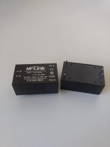 Mini Fonte Chaveada HLK-PM12 100~240VAC para 12V DC