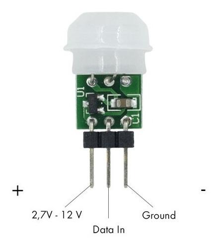 Mini Sensor Presença Movimento Pir Am312 Para Arduino