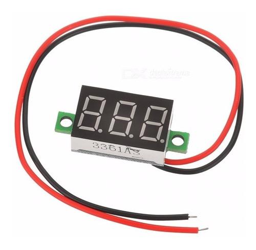 Mini Voltímetro Digital Led Vermelho 4.5~30v