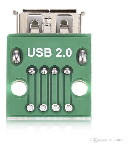 Módulo Adaptador Conector Usb Femea 2.0