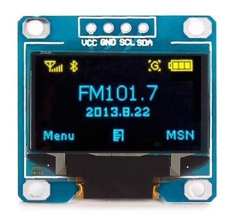 Modulo Display Oled 0.96 I2c Azul/amarelo Lcd