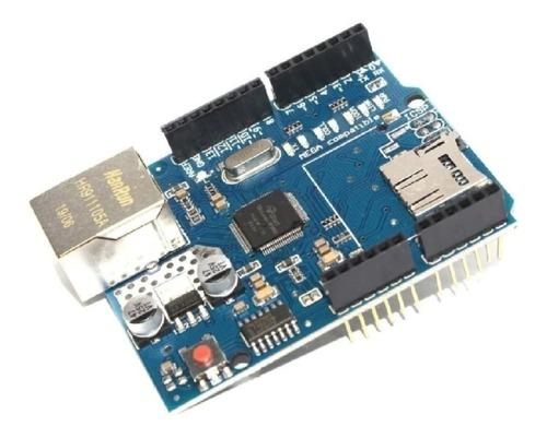 Modulo Ethernet Shield Arduino W5100 Com Slot Para Sd Card
