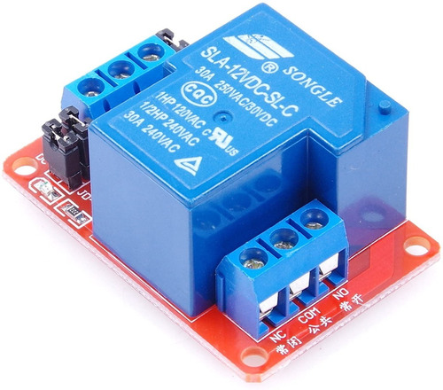 Módulo Relé 1 Canal 12v 30a Com Optoacoplador Para Arduino