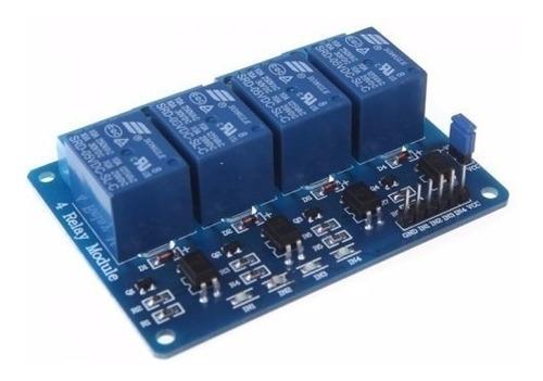 Módulo Relé 4 Canais 5v C/ Optoacopladores