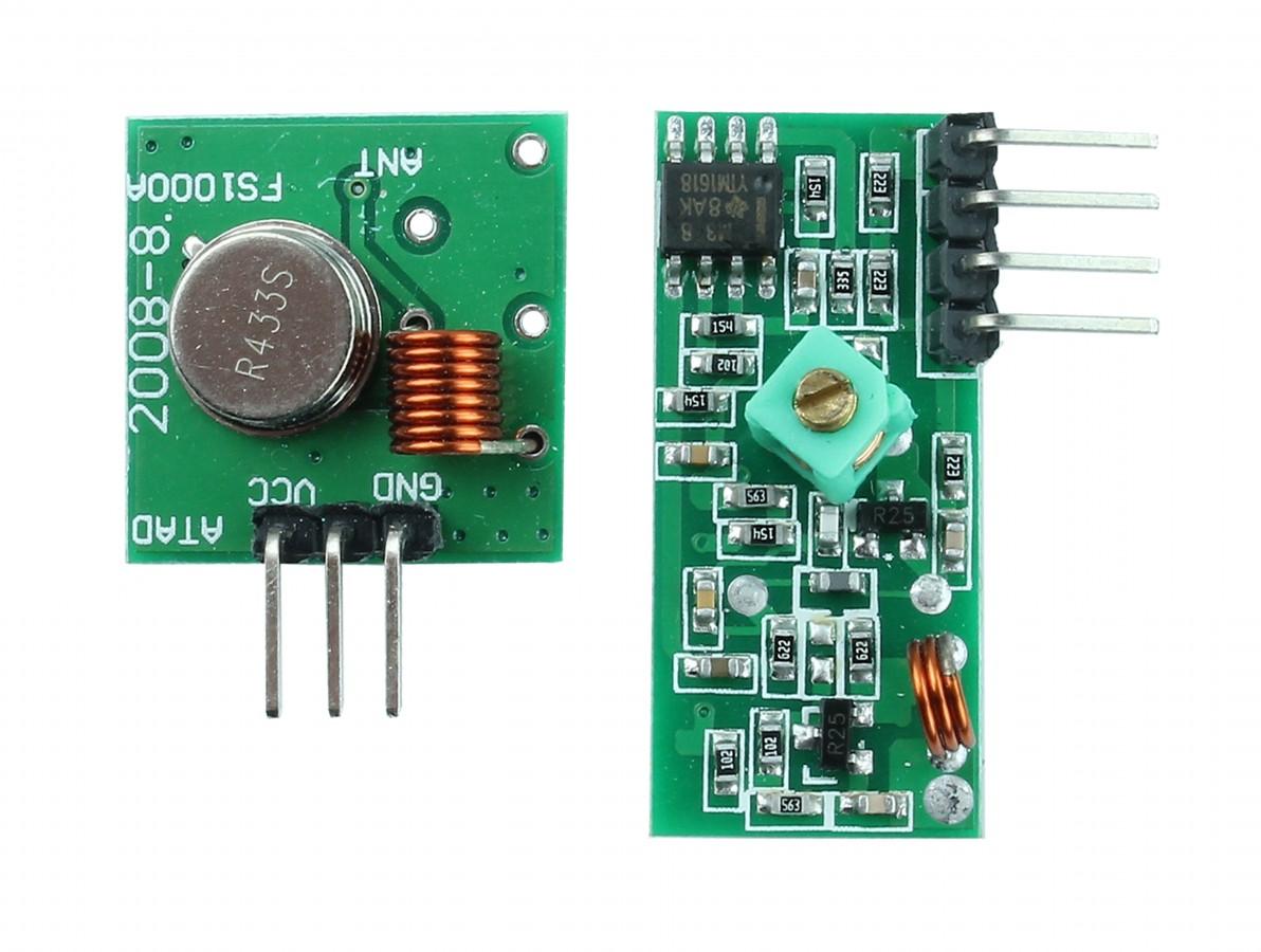 Módulo Transmissor RF 433 + Receptor RF 433mhz TK0460