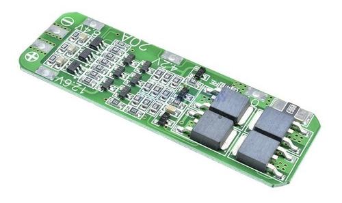 Placa Bms 3s 20a Controlador Proteção De Carga Bateria 18650