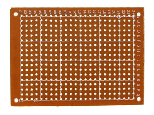 PLACA FENOLITE PCB ILHADA 7X9 PERFURADA PARA CIRCUITO