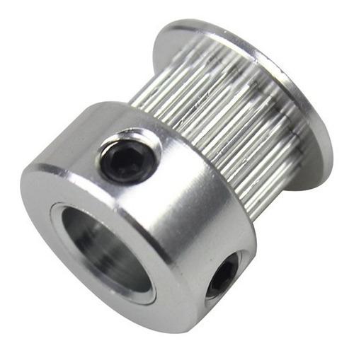 Polia Gt2 Passo 2mm para correia de 6mm 20 Dentes e Eixo 5mm