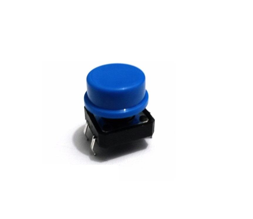Push Button Botão Chave Táctil 12X12X7.5mm com Capa Colorida (Kit com 10 unidades)