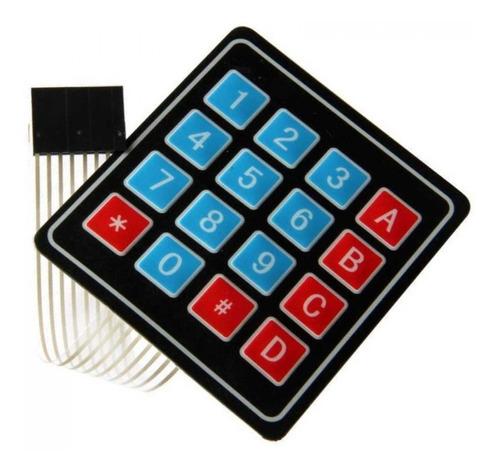 Teclado De Membrana Matricial 4x4 com 16 Teclas