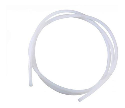 Tubo Ptfe Teflon para Filamento 1,75mm com 1mt X 4mm (Ext.) X 2mm (Int.)
