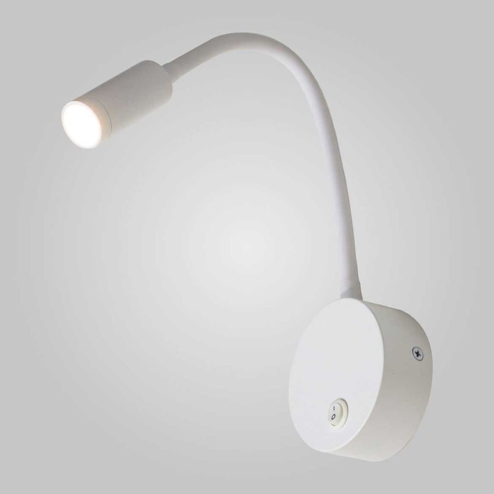 ARANDELA VISION METAL LED ARTICULÁVEL 3W 3000K 8,5X45,5CM BRANCO AR1302-BR QUALITY