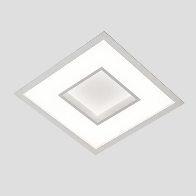 LUMINÁRIA DE EMBUTIR NEW CHESS LED QUADRADA 25,2W 3000K 370X370X67MM 501LED3BT- NEWLINE